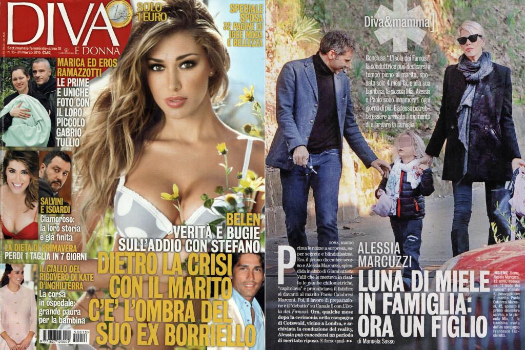 Alessia marcuzzi ora un figlio bollicine vip for Diva e donne