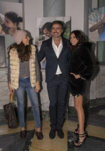Beppe con Emanuela Tittocchia e Fanny Cadeo