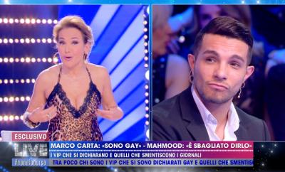 Barbara D'Urso e Marco Carta