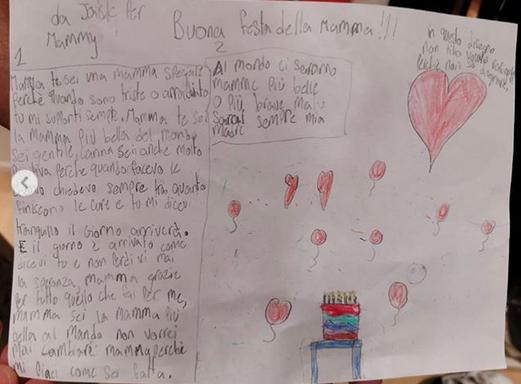 Elena Santarelli, regalo del figlio