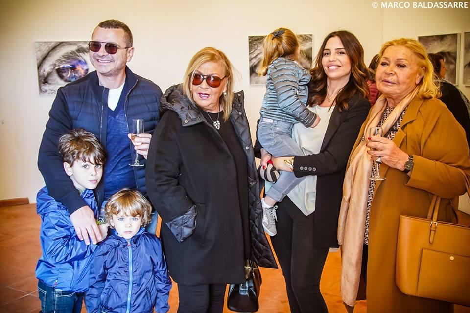 Marialaura Matthey con il fratello Carlo,  Rita e Liliana Paduano