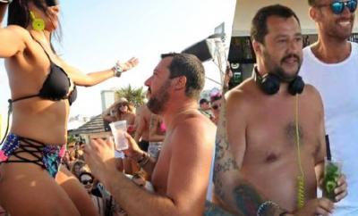 Matteo Salvini, Papeete beach
