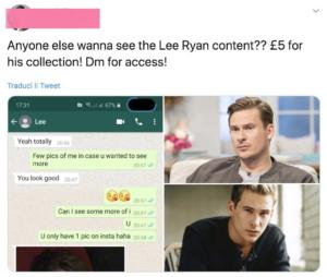 Lee Ryan, foto in vendita