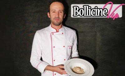 Marino Chef in mutande, Gamberi, pecorino e patata viola