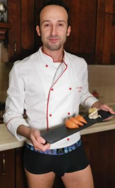 Marino chef, Turbante di sogliola con farina di mandorle, pinoli e pistacchi