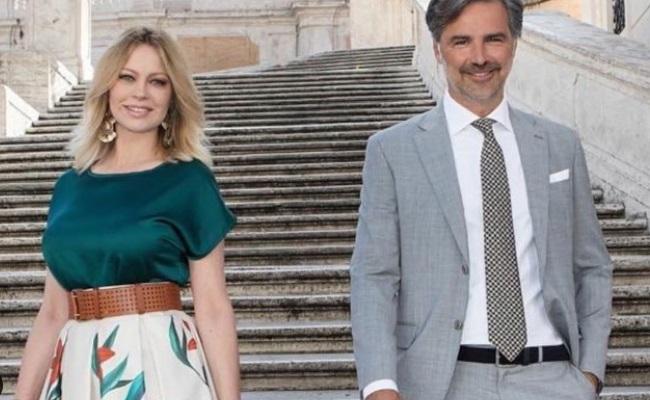 Beppe Convertini e Anna Falchi