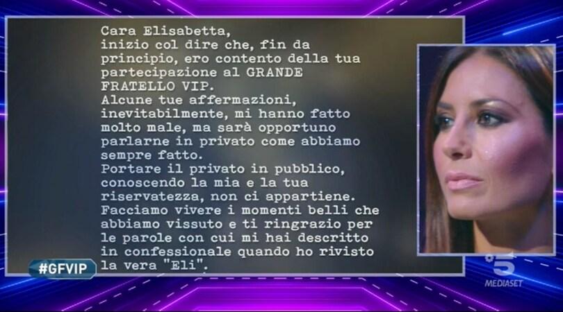 Elisabetta Gregoraci, lettera Briatore