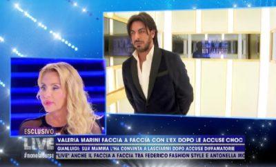 Valeria Marini e Gianluigi confronto