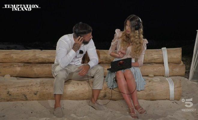 Floriana e Federico falò Temptation Island