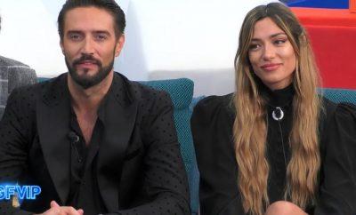 Alex Belli e Soleil Sorge bacio