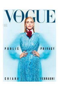 Chiara Ferragni sulla cover di VOGUE Italia Bollicine Vip